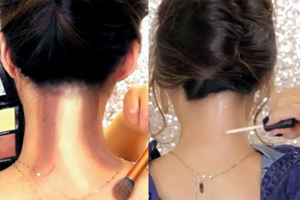 How To Contour the Back of Your Neck …..yes the back of your neck