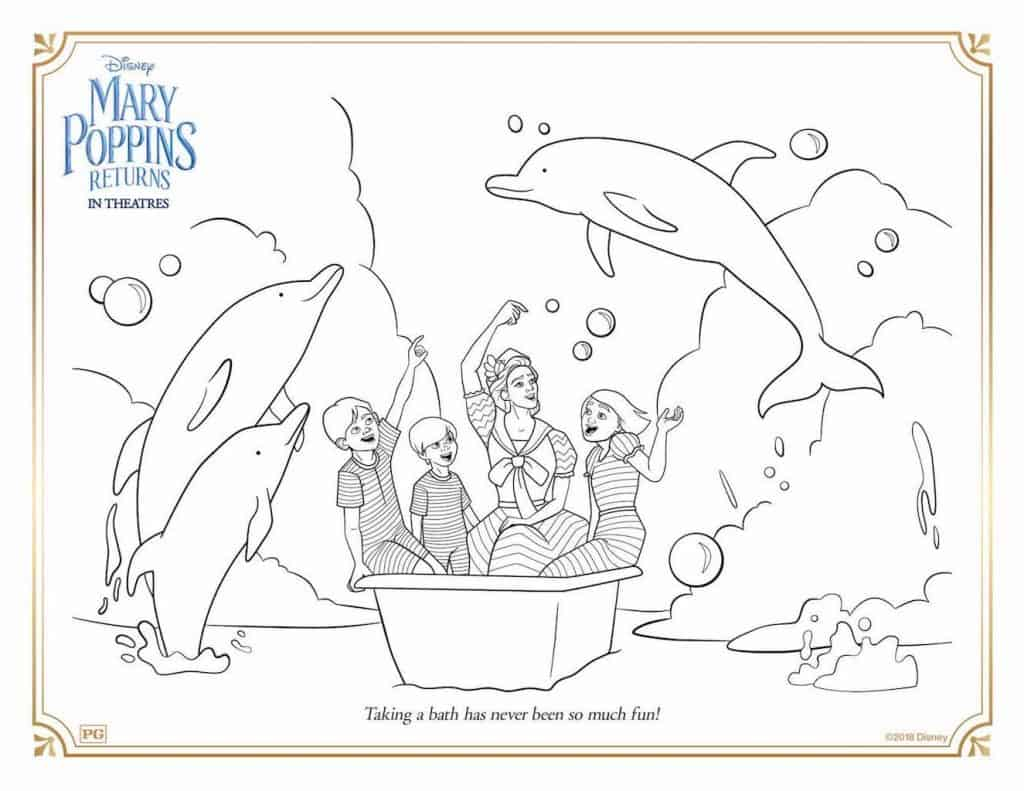 Free Printable Mary Poppins Returns Coloring Amp Activity