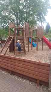 Just one of the outdoor play areas at Devon Railway Centre