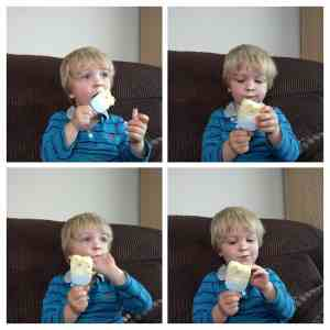 Enjoying a minions ice cream