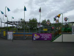 One of the roller coasters