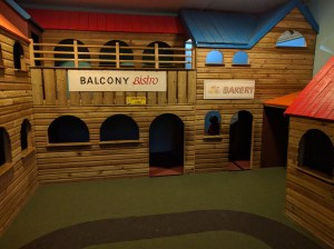The toddler Town in the main area
