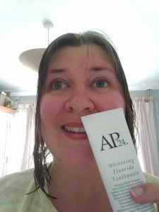 Day one using AP24 Whitening Toothpaste