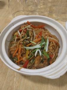 Vegetarian Pad Thai prepared at School of Wok