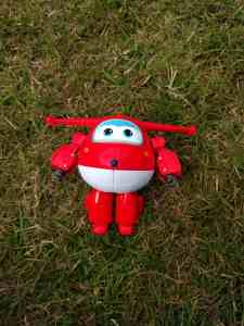 Jett toy form super wings as a robot