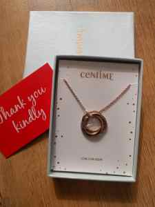 Personalised necklace in display box