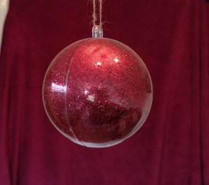 Glitter filled bauble