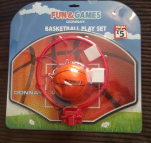 An indoor basketball hoop and ball for £5