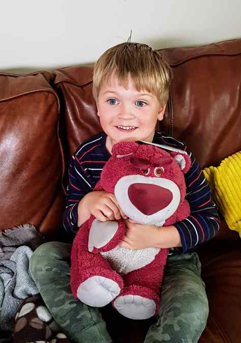 Boy with Lotso Toy