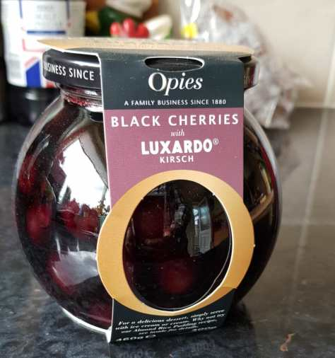 Opies Black Cherries with Kirsch