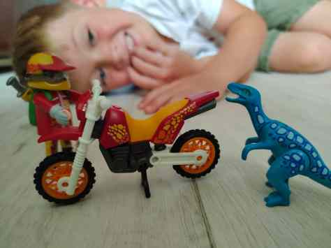 Playmobil Dinos Motocross and Raptor Set