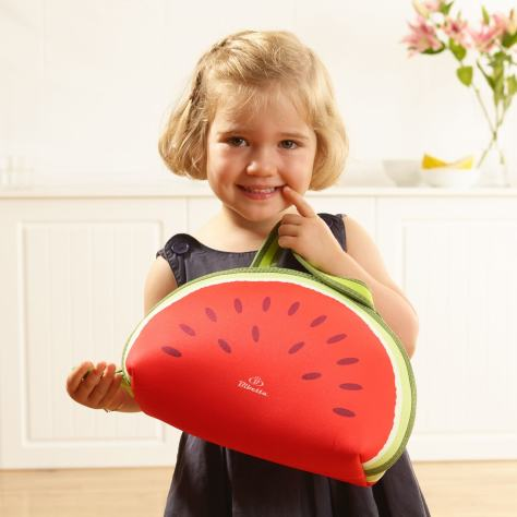 Girl with Melon Lunch Bag