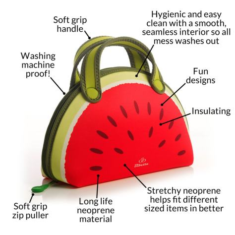 bibetta melon lunch bag