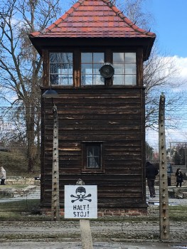 Watch tower in Auschwitz