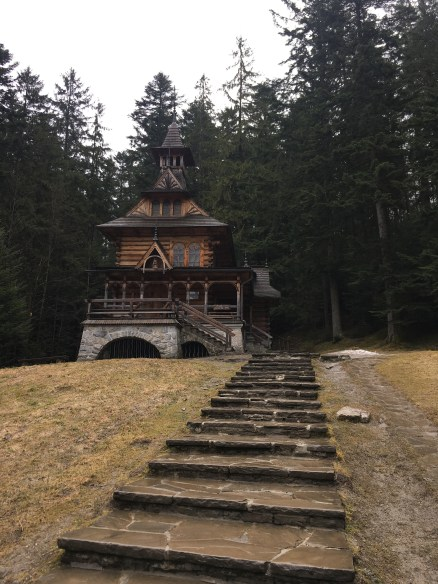 A chapel in Zakopane; many architectural designs taken from surrounding buildings in the area.
