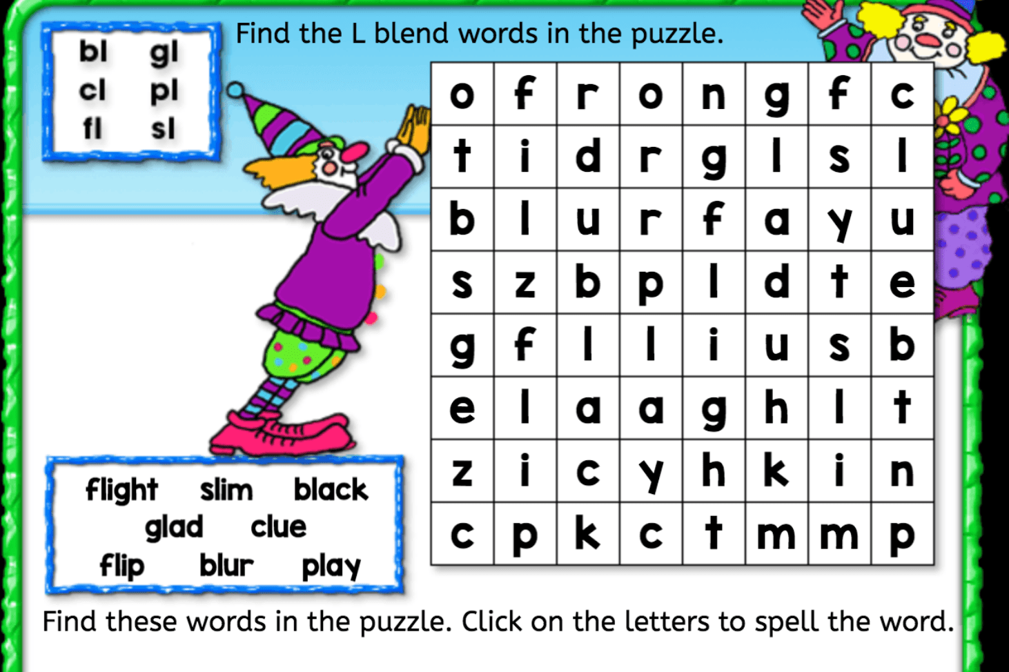 Word Search L Blend