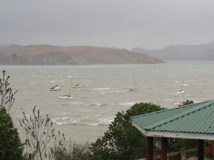 Corsair Bay in a storm
