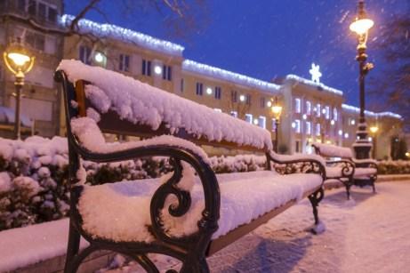 Nagykanizsa, 2018. december 15. A behavazott Erzsébet tér Nagykanizsán 2018. december 15-én. MTI/Varga György
