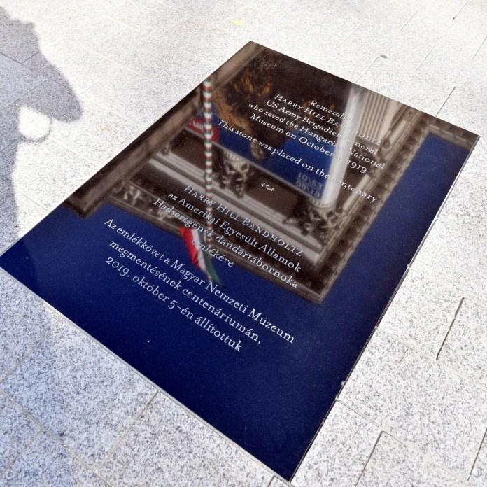Emléktáblát avattak Harry Hill Bandholtz tábornok tisztelet?