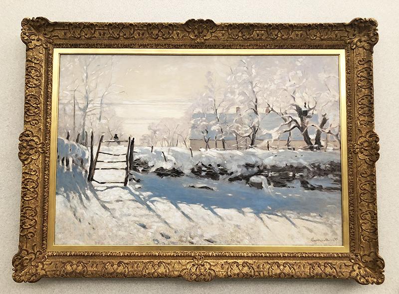 モネの絵画「カササギ」