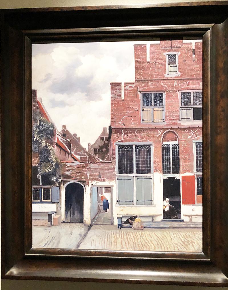 絵画フェルメール「デルフトの小路」