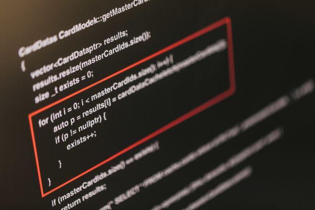 パソコンのコード画面