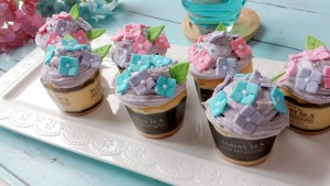 紫陽花カップケーキ レシピ