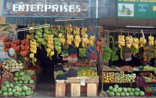 Many types of banana on sale in Kerala, South India
