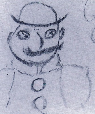 Image: Leopold Bloom, as sketched by James Joyce.