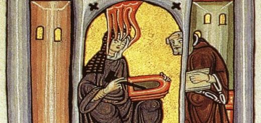Image: Illumination from Scivias, by Hildegard von Bingen, ca. 1152.