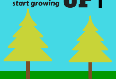 Why did trees start growing up?