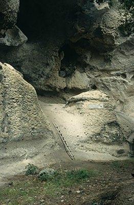 This is the El Gigante rockshelter in the western highlands of Honduras.