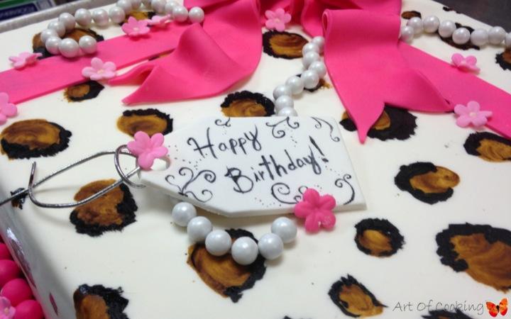 Panther Birthday Cake