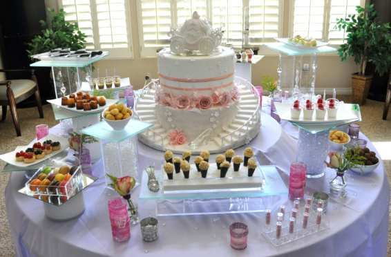 Cinderella-Dessert-Station-Idea-with-Custom-Design-Cake-for-Bridal-Shower-1024x652-min