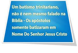 BATISMO EM NOME DE JESUS