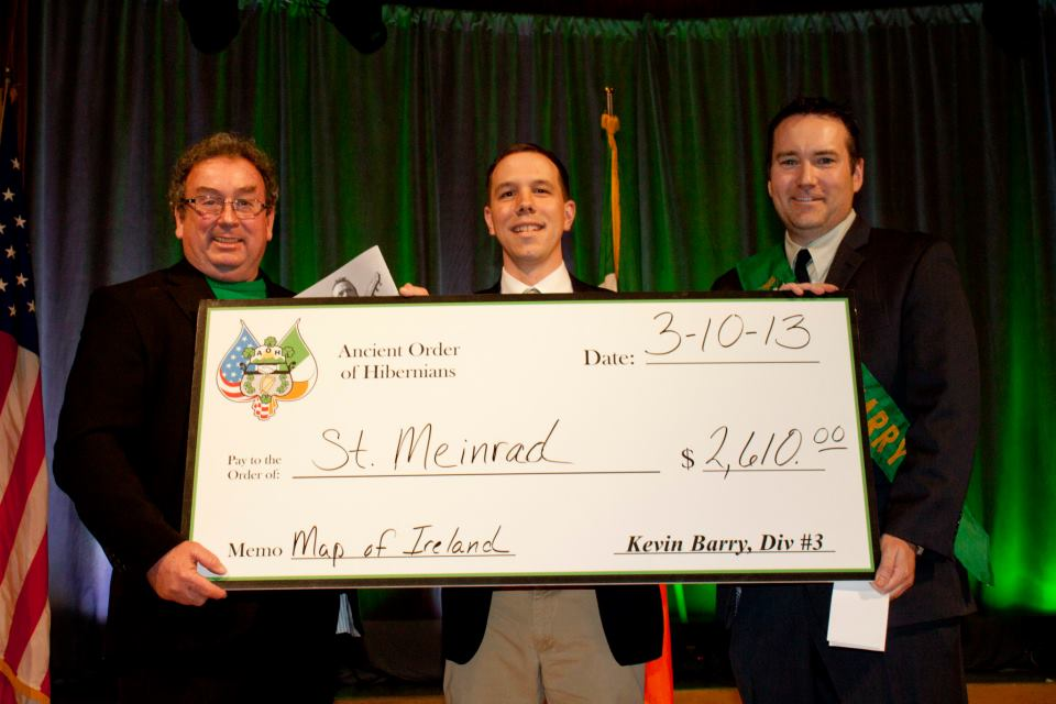 AOH donates over $2,600 to St. Meinrad annually.