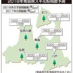 2018年の青森県内でのスギ花粉飛散予測は!(2月27日予測)