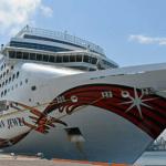 米国の大型クルーズ客船「ノルウェージャン・ジュエル」青森港に初入港!@2018年5月9日