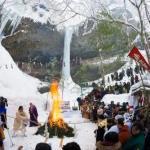 乳穂ヶ滝氷祭2020