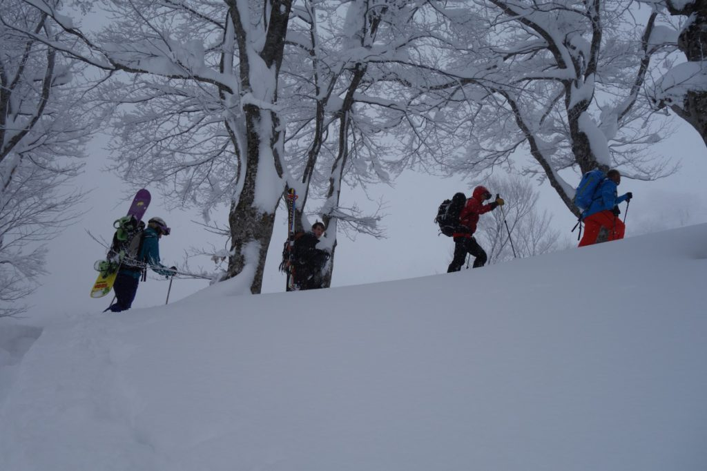 Backcountry adventures on Mt Iwaki