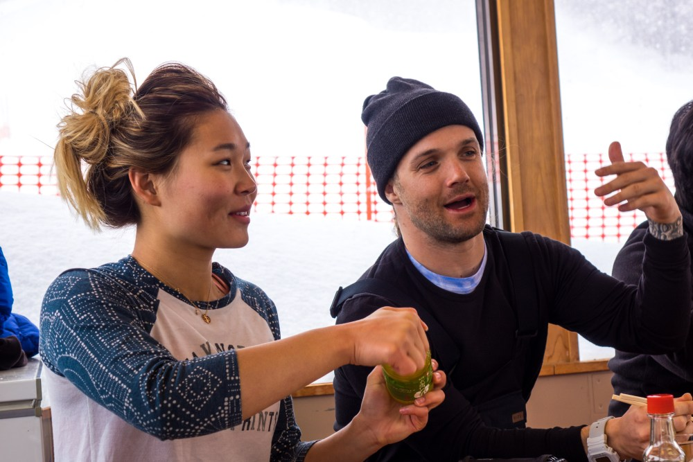 Chloe Kim & Louie Vito at Ramen House