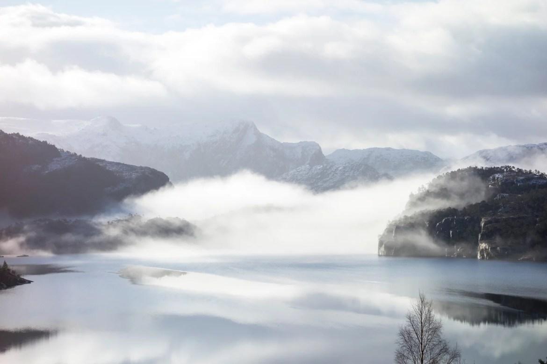 Preikestolen, Noruega: Início da subida