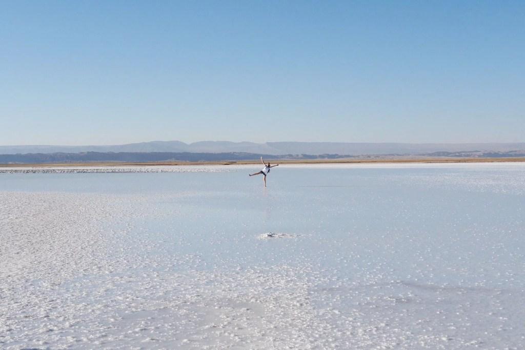 Chegando na imensidão de sal