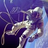 Gemini IV space walk. Astronaut Edward H. White photographed during his EVA.