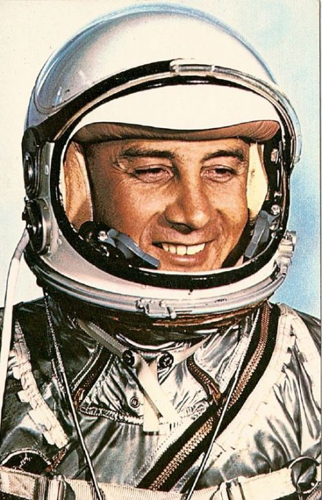 Virgil I. Grissom in his Gemini 3 spacesuit. Image Courtesy of NASA.