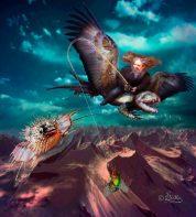 Digital Art, Der Drachenflieger Digital Art Work by Dagmar R. Ritter   Art On Screen [AOS] Magazine