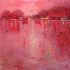 Roland Oberholzner: Juli 100 x 100 cm, Acryl auf Leinwand | Art On Screen - [AOS] Magazine