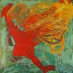 Christian Mayerhofer, Acryl auf Leinen, 80x80 cm, Der verlorene Schatten