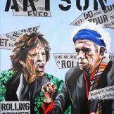 pop art, Martin Georg Sonlnleitner, ARTSON Rolling Stones, 2013, 100 x 80 cm ,Öl-Acryl-Leinwand, Figurativ, im [AOS] Magazine