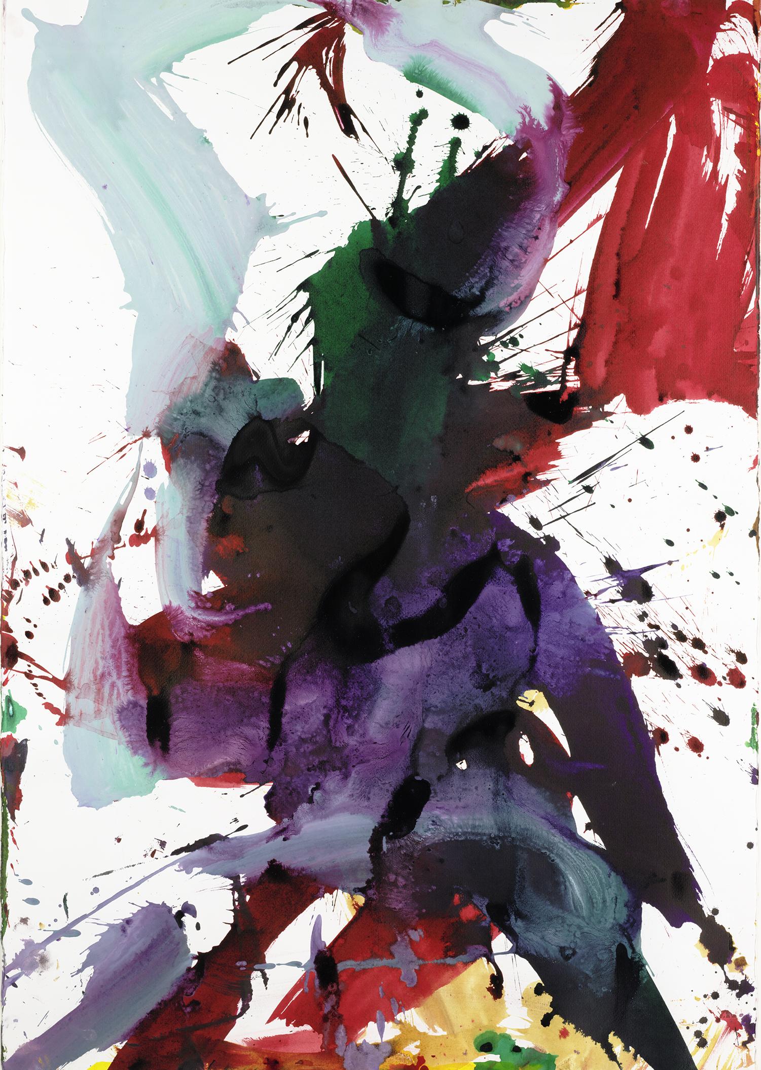 Abstraktion in Österreich, Franz Grabmayr, Tanzblatt, Mischtechnik, 2002, © Albertina, Wien